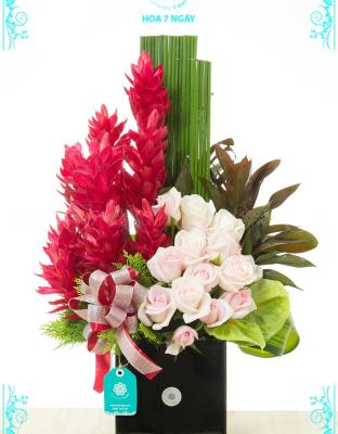 Vase Grand Opening Flowers - xinhtuoi.online