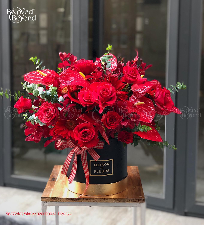 Hồng thắm tình nồng - D26229 - xinhtuoi.online