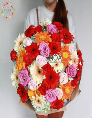 Bó Hoa Sinh Nhật - D77386 - xinhtuoi.online