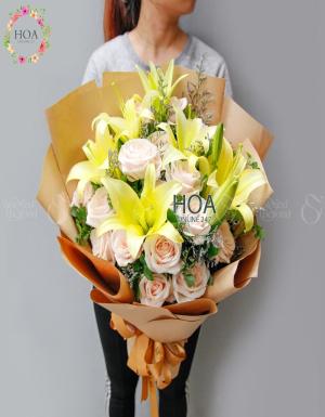 Bó Hoa Chúc Mừng - D140839 - xinhtuoi.online