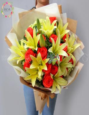 Bó Hoa Chúc Mừng - D174343 - xinhtuoi.online