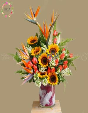 Bình Hoa Chúc Mừng - D112327 - xinhtuoi.online