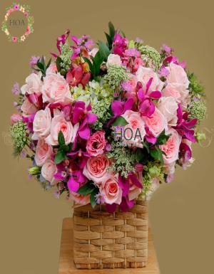 Lẵng Hoa Sinh Nhật - D174489 - xinhtuoi.online