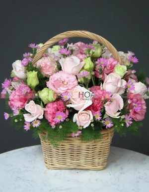 Lẵng Hoa Sinh Nhật - D112465 - xinhtuoi.online
