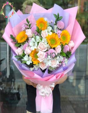 Bó Hoa Sinh Nhật - D141049 - xinhtuoi.online