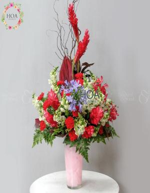 Bình Hoa Sinh Nhật - D141029 - xinhtuoi.online