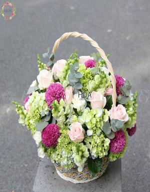 Lẵng Hoa Sinh Nhật - D108442 - xinhtuoi.online
