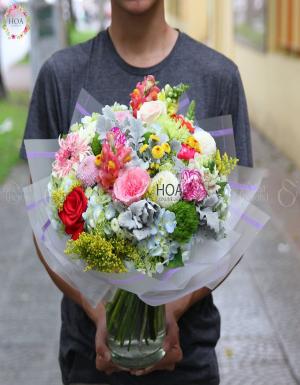 Bình Hoa Sinh Nhật - D175067 - xinhtuoi.online