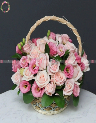 Basket (1) Birthday Flower - D140918 - xinhtuoi.online