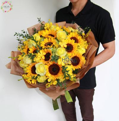 Bó Hoa Chúc Mừng - D130884 - xinhtuoi.online