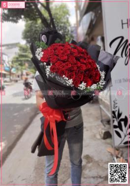 Bó hoa hồng đỏ siêu to - D30898 - xinhtuoi.online