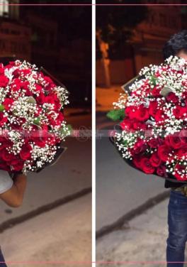 Bó hoa hồng đỏ siêu to - D30903 - xinhtuoi.online