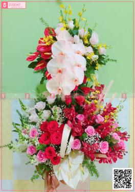 hộp hoa 2 tầng - D31047 - xinhtuoi.online
