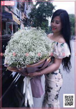 Bó hoa baby nhập khẩu - D31090 - xinhtuoi.online