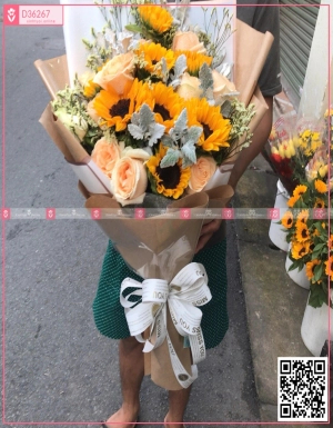 Hoa hồng, hướng dương.. - D36267 - xinhtuoi.online