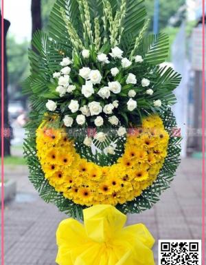 Vòng hoa viếng đám tang KV2002 - D27425 - xinhtuoi.online
