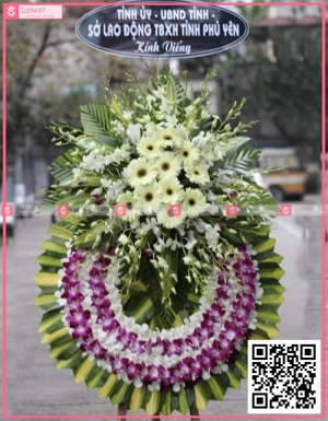 Hoa viếng 004 - D29497 - xinhtuoi.online