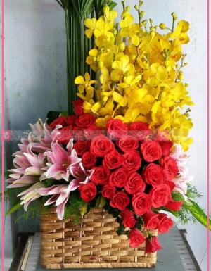 Lily, hoa hồng, lan mokara - D31507 - xinhtuoi.online