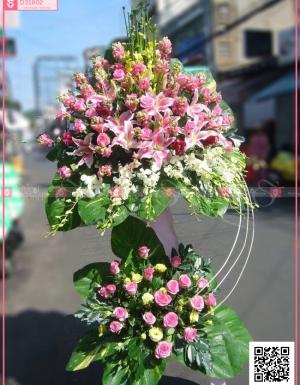 Hoa lily , hoa hồng.. - D31802 - xinhtuoi.online