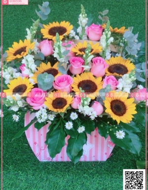 Hoa hồng, hướng dương.. - D36106 - xinhtuoi.online