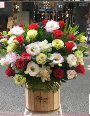 Lẵng hoa tươi mát - D37170 - xinhtuoi.online