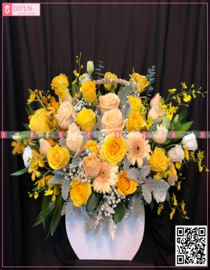 Lẵng hoa chúc mừng - D37176 - xinhtuoi.online