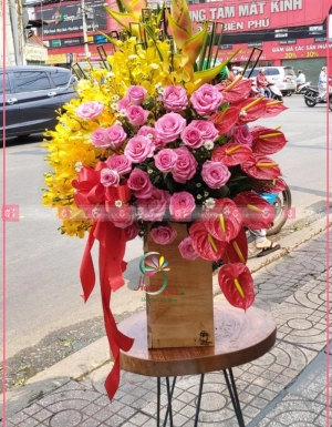 Lẵng Hoa Khai Trương - D112092 - xinhtuoi.online