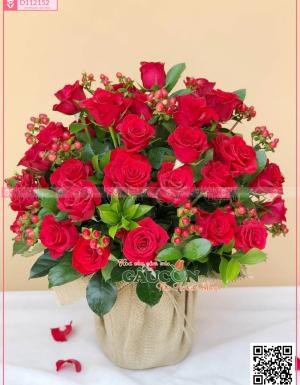 Giỏ Hoa Chúc Mừng - D112152 - xinhtuoi.online