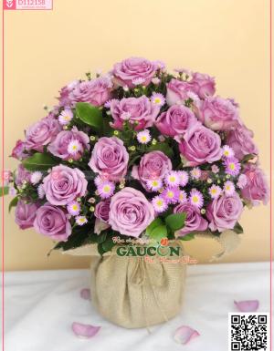 Giỏ Hoa Chúc Mừng - D112158 - xinhtuoi.online