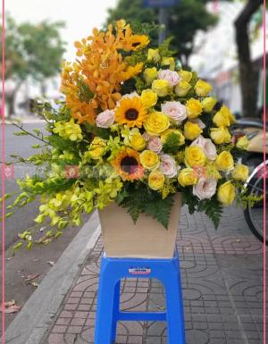 Lẵng Hoa Quà Tặng - D112176 - xinhtuoi.online