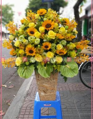 Lẵng Hoa Quà Tặng - D112177 - xinhtuoi.online