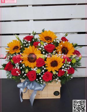 Hộp Hoa Chúc Mừng - D112206 - xinhtuoi.online