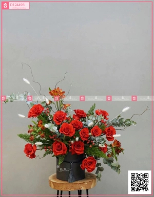 Lẵng Hoa Quà Tặng - D124498 - xinhtuoi.online