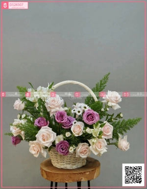 Lẵng Hoa Quà Tặng - D124507 - xinhtuoi.online