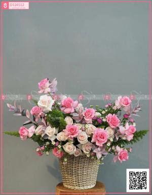 Lẵng Hoa Quà Tặng - D124512 - xinhtuoi.online