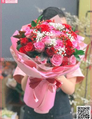 Bó Hoa Quà Tặng - D124523 - xinhtuoi.online