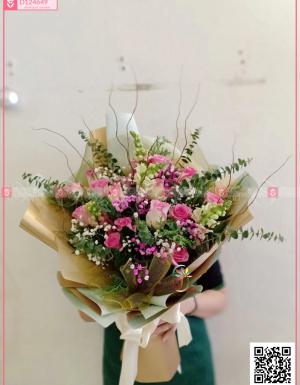 Bó Hoa Chúc Mừng - D124649 - xinhtuoi.online