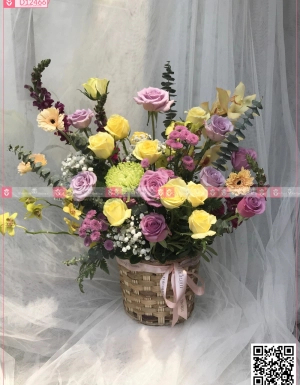 Giỏ Hoa Chúc Mừng - D124667 - xinhtuoi.online