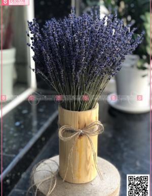 Lọ gỗ hoa lavender - oải hương khô Pháp - D136778 - xinhtuoi.online