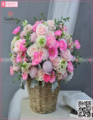 Lẵng Florist Choice Hồng - D165127 - xinhtuoi.online