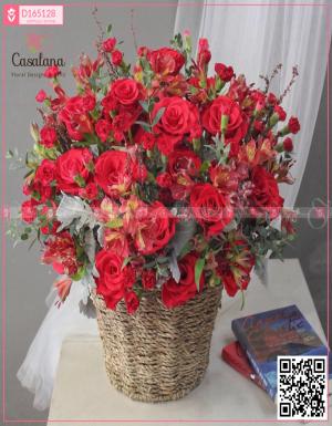 Lẵng Florist Choice Đỏ - D165128 - xinhtuoi.online