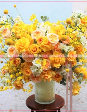 Bình hoa Luxury Tone Vàng 2 - D173532 - xinhtuoi.online