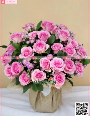 Giỏ Hoa Chúc Mừng - D173729 - xinhtuoi.online