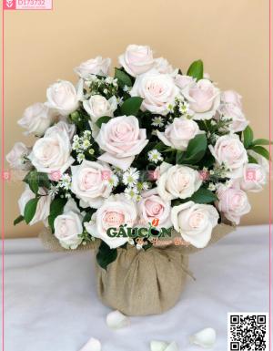 Giỏ Hoa Chúc Mừng - D173732 - xinhtuoi.online