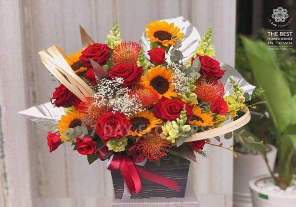 Hoa xuân nơi công sở đón tết! - Hoa 7 Ngày - xinhtuoi.online