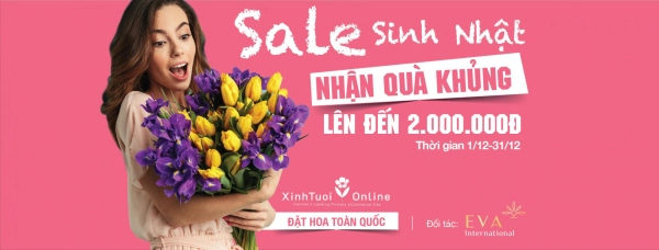 SALE SINH NHẬT- NHẬN QUÀ KHỦNG từ #XinhTuoiOnline  - xinhtuoi.online