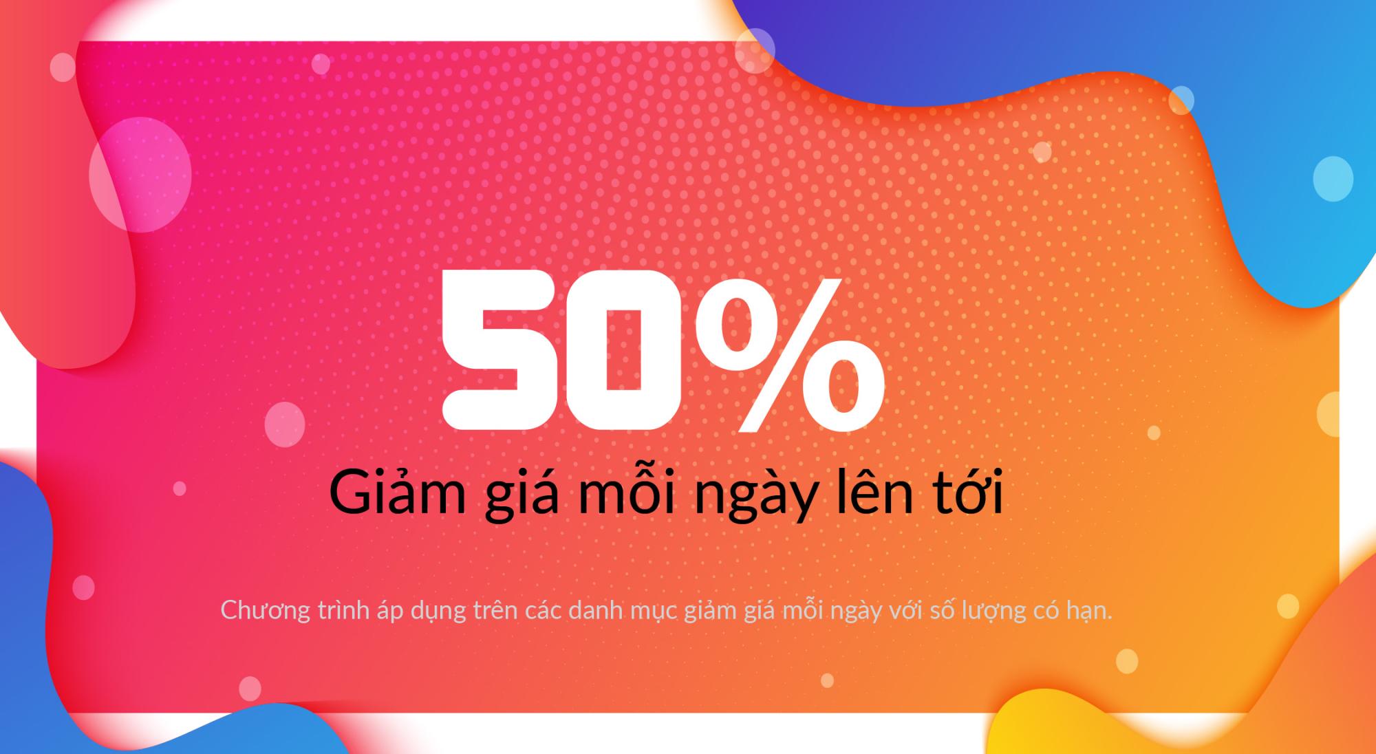 Giảm giá lên tới 50% mỗi ngày - xinhtuoi.online