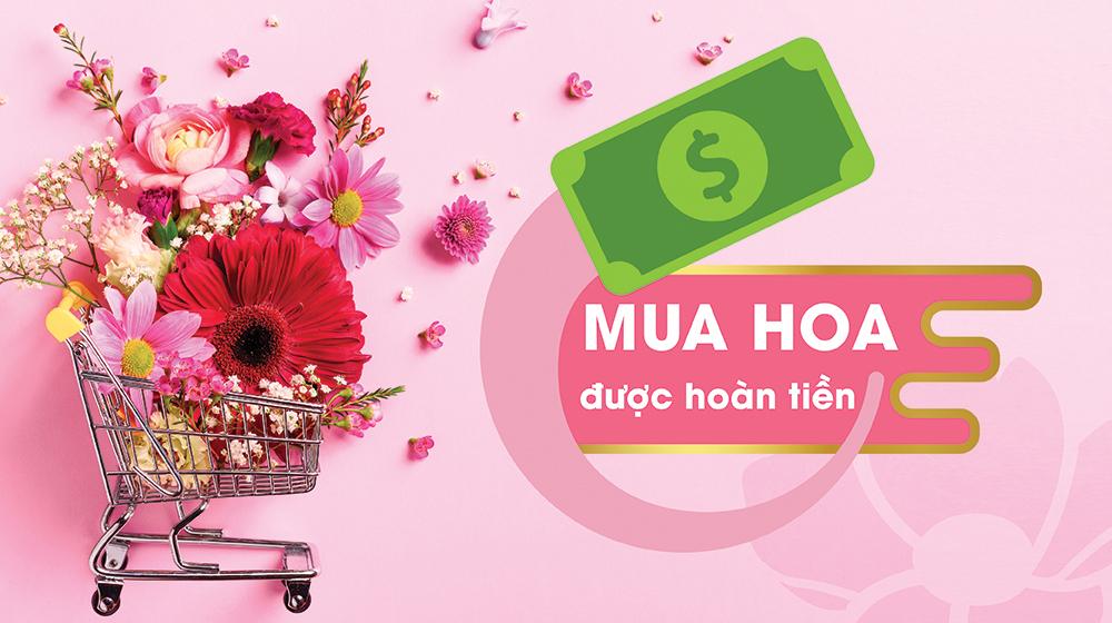 Mua hoa tại Xinh Tươi Online được hoàn tiền