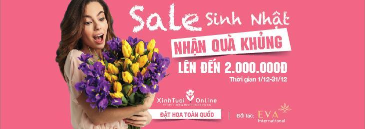 Mua hoa tặng Sinh Nhật - Tặng kèm Voucher 2TR làm đẹp - xinhtuoi.online