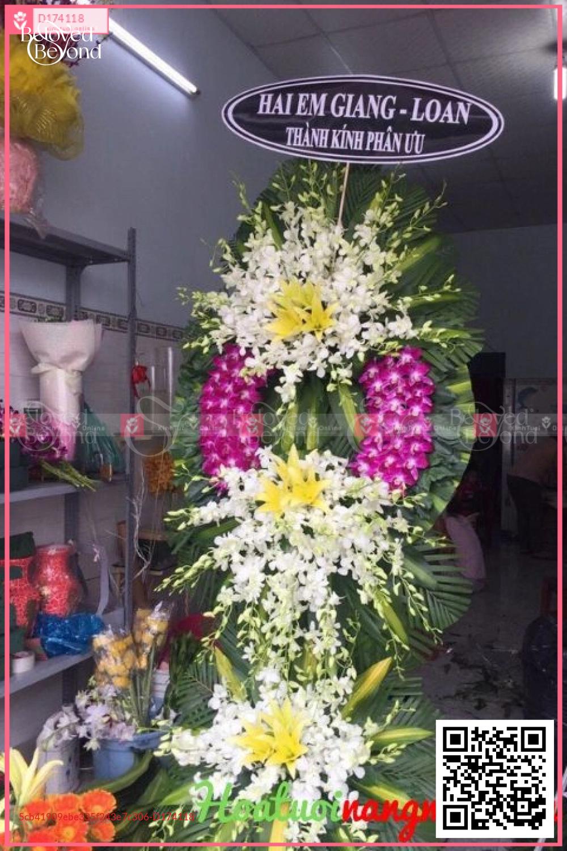 Vòng hoa viếng đám tang KV2001 - D174118 - xinhtuoi.online